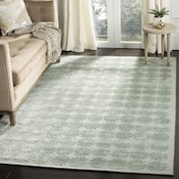 "Martha Stewart by Safavieh Constellation Sky Silk/ Wool Rug - 7'9"" x 9'9"""