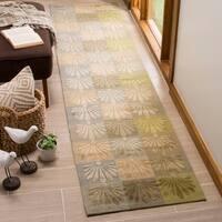 Martha Stewart by Safavieh Sanctuary Oasis Silk/ Wool Rug (5' 6 x 8' 6) - 5'6 x 8'6