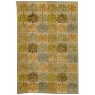 Martha Stewart by Safavieh Sanctuary Oasis Silk/ Wool Rug (7' 9 x 9' 9)