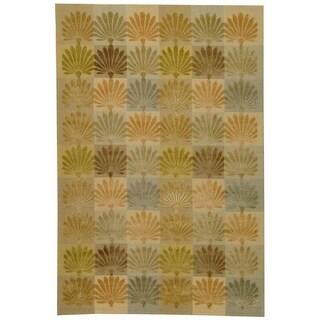 Martha Stewart by Safavieh Sanctuary Oasis Silk/ Wool Rug (8' 6 x 11' 6)