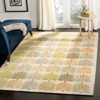 "Martha Stewart by Safavieh Sanctuary Oasis Silk/ Wool Rug - 8'-6"" X 11'-6"""