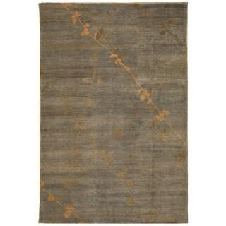 Martha Stewart by Safavieh Trellis Blue/ Quartz Wool Rug - 5'6 x 8'6