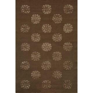 Martha Stewart Medallions Onyx Silk/ Wool Rug (9' 6 x 13' 6)
