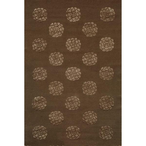 Martha Stewart by Safavieh Medallions Onyx Silk/ Wool Rug (7' 9 x 9' 9)