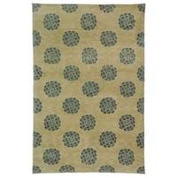 Martha Stewart by Safavieh Medallions Aqua/ Marine Silk/ Wool Rug - 8'6 x 11'6