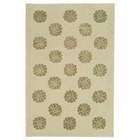 Martha Stewart by Safavieh Medallions Agate Silk/ Wool Rug - 8'6 x 11'6