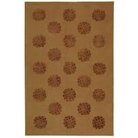 Martha Stewart by Safavieh Medallions Cocoa Silk/ Wool Rug - 7'9 x 9'9