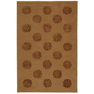 Martha Stewart by Safavieh Medallions Cocoa Silk/ Wool Rug (8' 6 x 11' 6)
