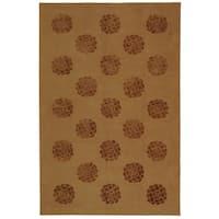 Martha Stewart by Safavieh Medallions Cocoa Silk/ Wool Rug - 8'6 x 11'6