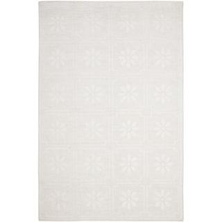 Martha Stewart Daisy Square White Linen Rug (6' x 9')