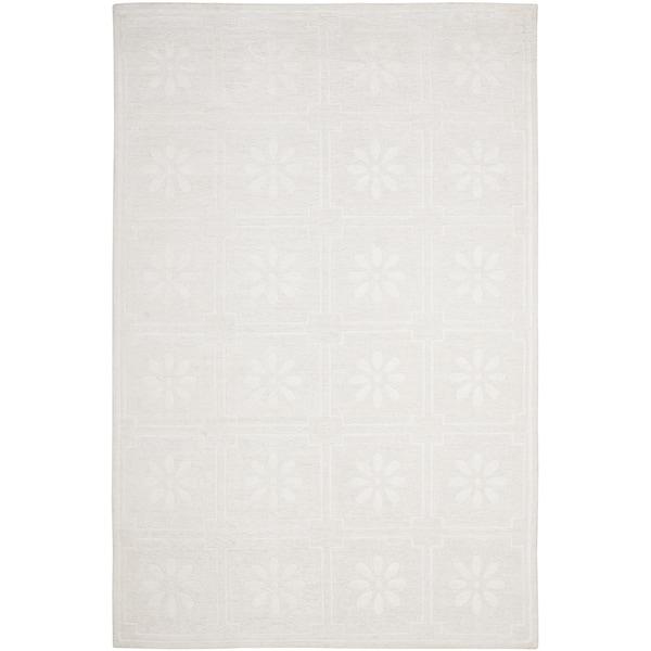 Martha Stewart by Safavieh Daisy Square White Linen Rug - 9' x 12'