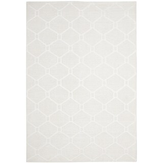 Martha Stewart by Safavieh Piazza White Linen Rug (9' x 12')