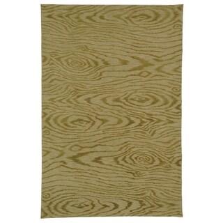 Martha Stewart Faux Bois Porcini Silk/ Wool Rug (3' 9 x 5' 9)