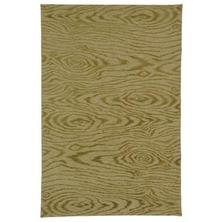 Martha Stewart Faux Bois Porcini Silk/ Wool Rug (5' 6 x 8' 6)