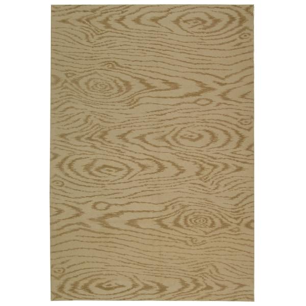 Martha Stewart by Safavieh Faux Bois Driftwood Silk/ Wool Rug - 9' 6 x 13' 6