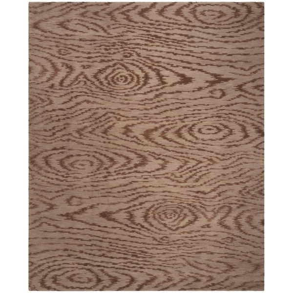 Martha Stewart by Safavieh Faux Bois Truffle Silk/ Wool Rug - 7'9 x 9'9