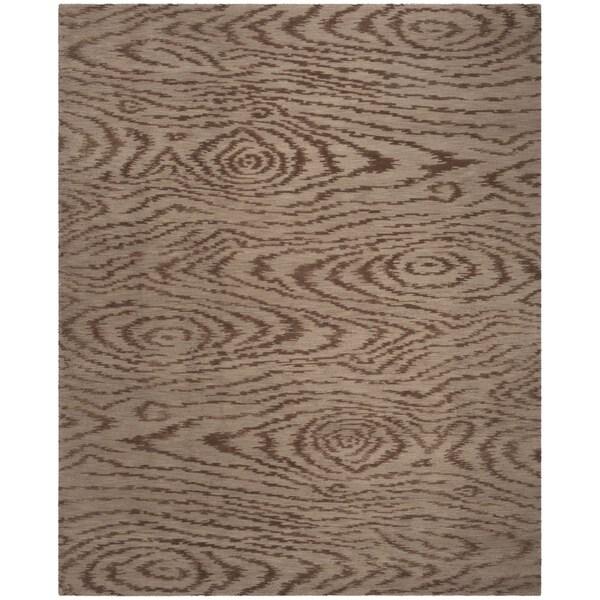 Martha Stewart by Safavieh Faux Bois Truffle Silk/ Wool Rug - 8'6 x 11'6
