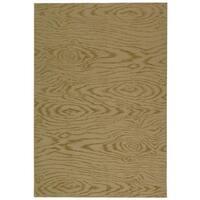 Martha Stewart by Safavieh Faux Bois Lichen Silk/ Wool Rug - 3'9 x 5'9