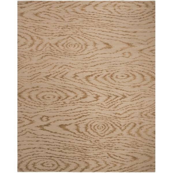 Martha Stewart by Safavieh Faux Bois Lichen Silk/ Wool Rug - 7'9 x 9'9