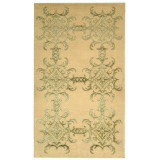 Martha Stewart by Safavieh Tracery Birch Silk/ Wool Rug (9' 6 x 13' 6)