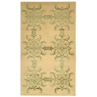 Martha Stewart by Safavieh Tracery Birch Silk/ Wool Rug - 9' 6 x 13' 6