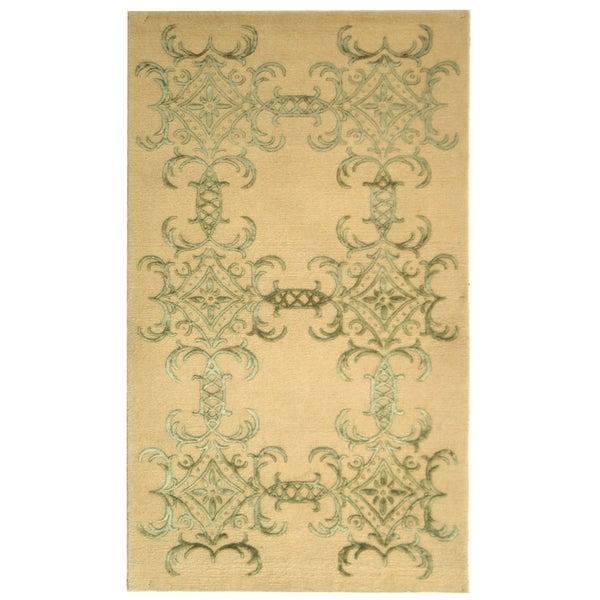 Martha Stewart by Safavieh Tracery Birch Silk/ Wool Rug - 9' 6 x 13' 6