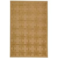 Martha Stewart by Safavieh Tracery Pecan Silk/ Wool Rug - 5'6 x 8'6