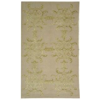 Martha Stewart by Safavieh Tracery Crystal Silk/ Wool Rug - 5' 6 x 8' 6