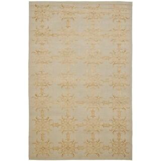 Martha Stewart Tracery Grey/ Beige Silk/ Wool Rug (3' 9 x 5' 9)
