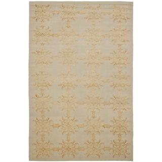 Martha Stewart Tracery Grey/ Beige Silk and Wool Rug (5' 6 x 8' 6)