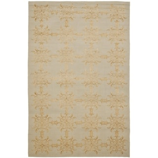Martha Stewart by Safavieh Tracery Grey/ Beige Silk/ Wool Rug (8' 6 x 11' 6)|https://ak1.ostkcdn.com/images/products/7877861/Martha-Stewart-Tracery-Grey-Beige-Silk-and-Wool-Rug-8-6-x-11-6-P15260885.jpg?impolicy=medium