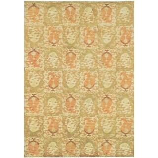 Martha Stewart by Safavieh Reflection Earth Silk/ Wool Rug - 4' x 6'
