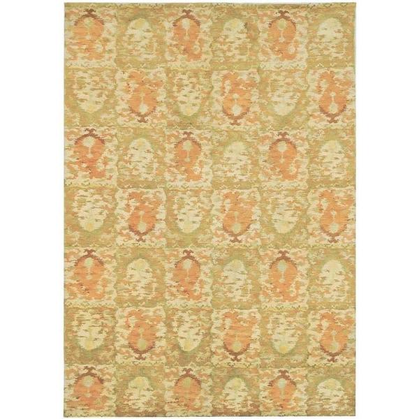 Martha Stewart by Safavieh Reflection Earth Silk/ Wool Rug (4' x 6')