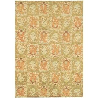 Martha Stewart by Safavieh Reflection Earth Silk/ Wool Rug (6' x 9')