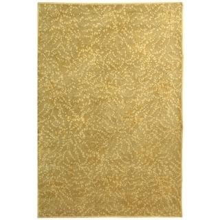 Martha Stewart Sakura Turtle/ Amber Silk/ Wool Rug (4' x 6')