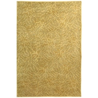 Martha Stewart by Safavieh Sakura Turtle/ Amber Silk/ Wool Rug - 4' x 6'