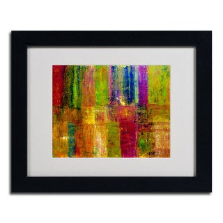 Michele Calkins 'Color Abstract' Framed Matted Art