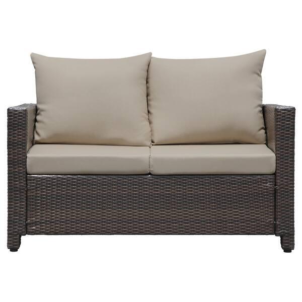 Super Shop Portfolio Kenyon Valley Brown Wicker Indoor Outdoor 4 Short Links Chair Design For Home Short Linksinfo