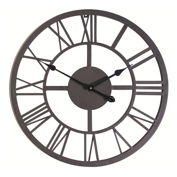 shop giant roman numeral wall clock free shipping today