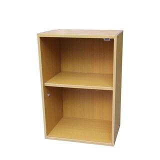 Oak Two-tiered Adjustable Bookshelf