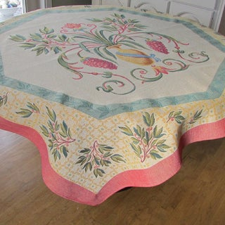 French Woven Heavy Weave 60 inch Table Throw