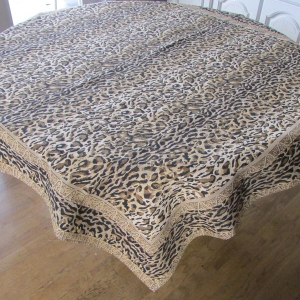 Corona Decor French Woven Heavy Weave 60-inch Table Cloth