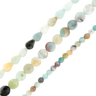 Pearlz Ocean Amazonite Loose Bead Strands (Set of 3)