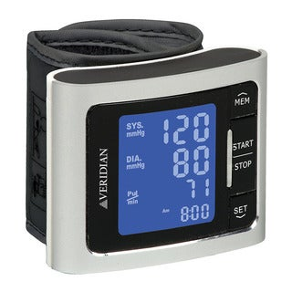 Silver Automatic Digital Wrist Blood Pressure Monitor