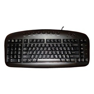 A4Tech Left Handed Keyboard Wired USB Black Via Ergoguys