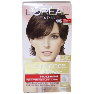 L'Oreal Excellence Creme Pro Keratine #4AR Dark Chocolate Brown Hair Color