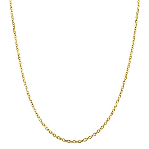 Fremada 14k Yellow Gold 1-mm Flat Cable Link Chain (16-20 inches)