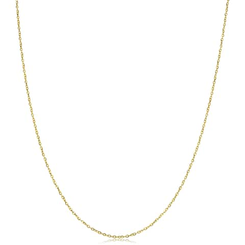 14k Yellow Gold 1-mm Flat Cable Link Chain (16-20 inches)