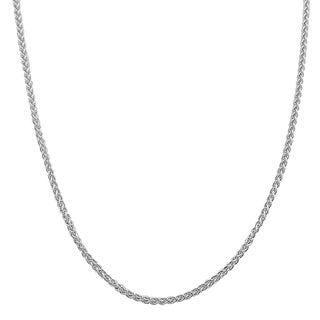 Fremada Italian Sterling Silver 1.5mm Round Wheat Chain