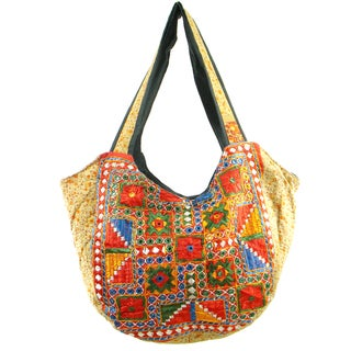 Handmade Colorful Embroidered Traditional Banjara Hobo Bag (India)